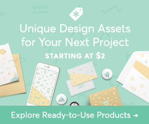 Unique Design Assets for Your Next Project Starting at $2